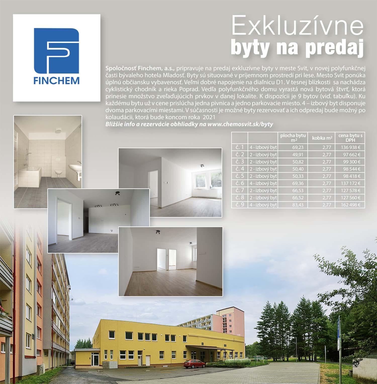 Exkluzívne byty na predaj